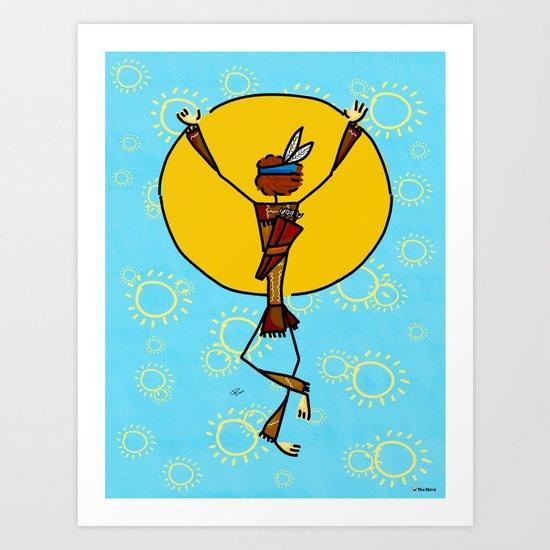 Spiritual dance Art Print