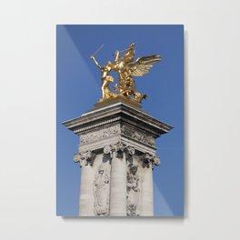 Paris Gold Metal Print