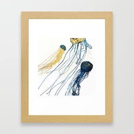 Metallic Jellyfish II Framed Art Print