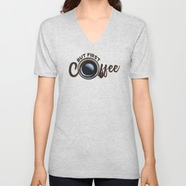 but first coffee (photo) Unisex V-Neck