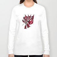 transformers Long Sleeve T-shirts featuring Transformers Air Guitar'n Con by Laserbot