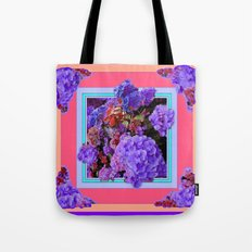 Lilac Purple Hydrangeas garden Abstract Tote Bag