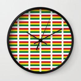 flag of bolivia 2 -bolivian,boliviano,bolivian,Sucre, La Paz. Wall Clock