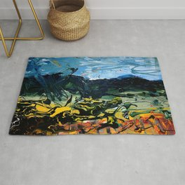 Poetic Earth, Land and Its Surface Rug