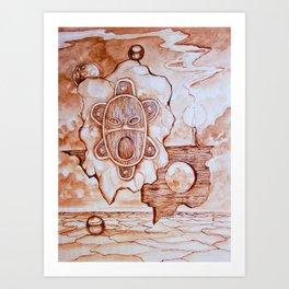 Taino Sun God Art Print