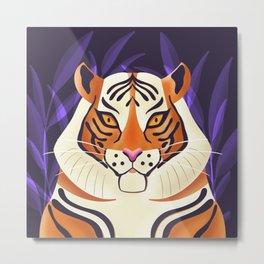 Tiger 001 Wildlife Metal Print