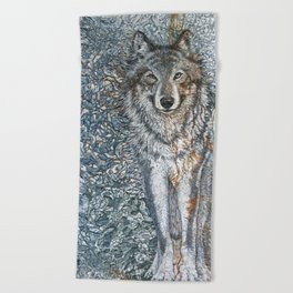 Titan's Companion (crp) Beach Towel