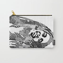 Bob Raggae - black and white Carry-All Pouch