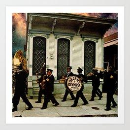 Dejan's Olympia Brass Band Art Print