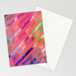 Ribbon Party - Pink and Rainbow Stripe Palette Stationery Cards