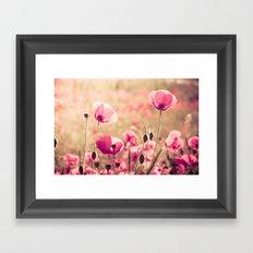 Heaven - poppy flowers photography Framed Art Print