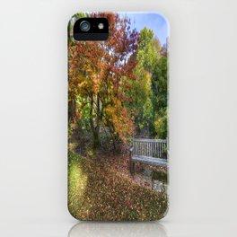 Autumn Bench  iPhone Case
