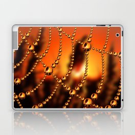 Web of Liquid Gold Laptop & iPad Skin
