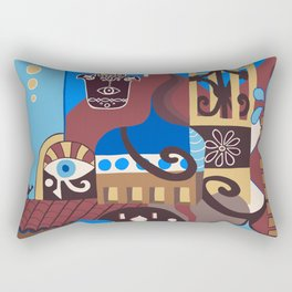 Camel on the Roof Rectangular Pillow