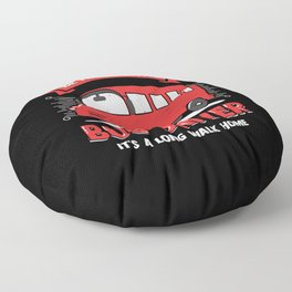 Funny Bus Driver Operator Gift Floor Pillow