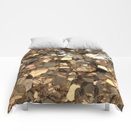 Golden Pyrite Mineral Comforters