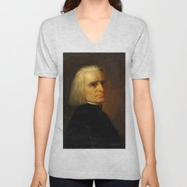 Franz Liszt (1811-1886) by Carl Ehrenberg in 1868 Unisex V-Neck