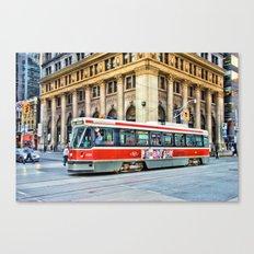 toronto streetcar Canvas Print