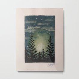 Trees in the dark Metal Print