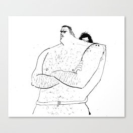 Naked Hugging Canvas Print