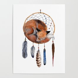 Fox Dreamcatcher Poster