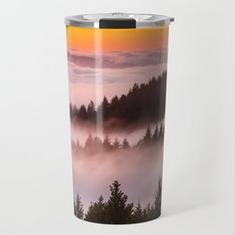 Bolinas Ridge Foggy Sunset Travel Mug
