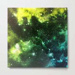 Galaxy Blue&Green Metal Print