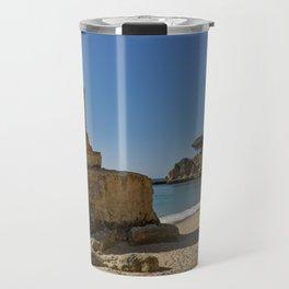 Olhos d'Agua rock. the Algarve Travel Mug