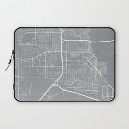 Beaumont Map, Texas USA - Pewter Laptop Sleeve