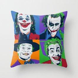 Joker Pop Art Throw Pillow