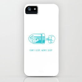Can't Stop Won't Stop - Bullet Bill iPhone Case