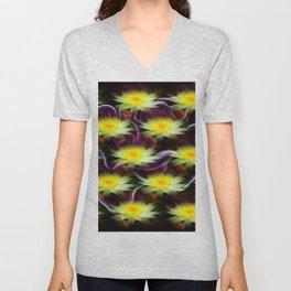 Waterlily Unisex V-Neck