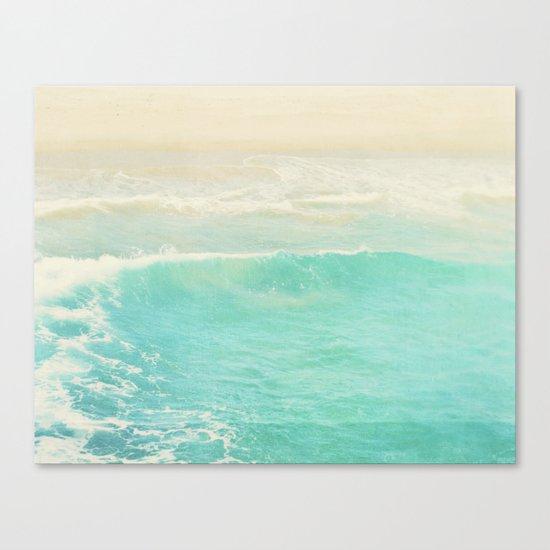 beach ocean wave. Surge. Hermosa Beach photograph Canvas Print