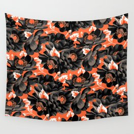 Mount Cook Lily - Orange/Black Wall Tapestry