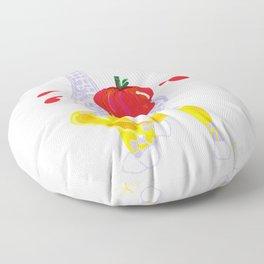 Thanksgiving Food Fight Tomatoe - Midas is Ready - Christmas Lavender Giraffe Floor Pillow