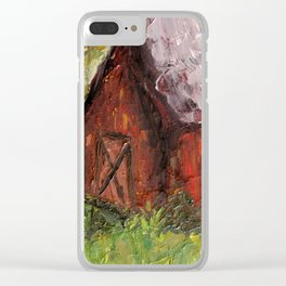 Countryside Barn Clear iPhone Case
