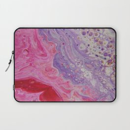 Fluid Nature - Colliding Pastels - Pink Lilac Abstract Art Laptop Sleeve