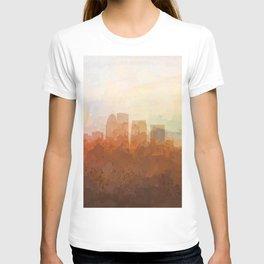 Louisville, Kentucky Skyline - In the Clouds T-shirt