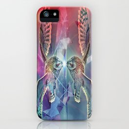 Owl Reflected iPhone Case