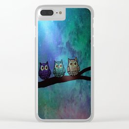 owl-44 Clear iPhone Case