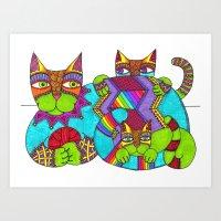 Cat Zen 13 Art Print