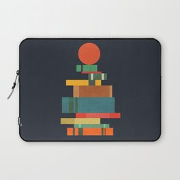 Book stack with a ball Laptop Sleeve
