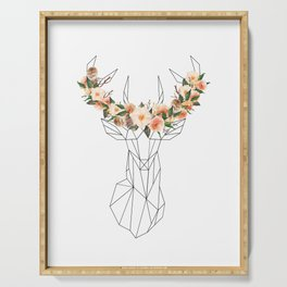 Deer with Flower Crown Serving Tray