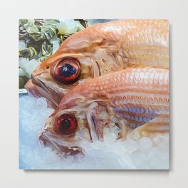 Catch of the day. Metal Print