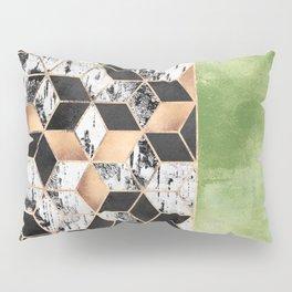 Birch Tree Cubes Pillow Sham