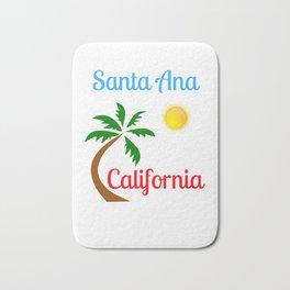 Santa Ana California Palm Tree and Sun Bath Mat