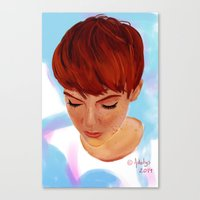 ginger Canvas Prints featuring Ginger by Adelys