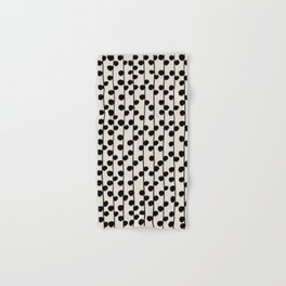 Dots / Black & White Pattern Hand & Bath Towel