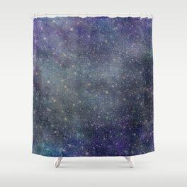 Starlight Indigo Shower Curtain