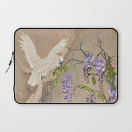 Cockatoos and Wisteria Laptop Sleeve